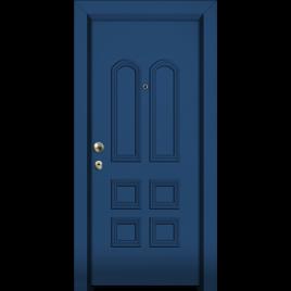 Πόρτα Ασφαλείας.  με επένδυση αλουμινίου στο έξω μέρος.