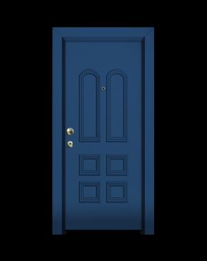 πόρτα με επένδυση αλουμινίου