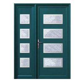 Πόρτα αλουμινίου σε χρώμα ραλ της επιλογή σας