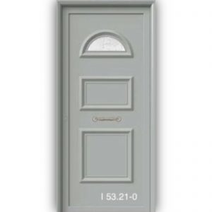 Πόρτα εισόδου με πάνελ αλουμινίου